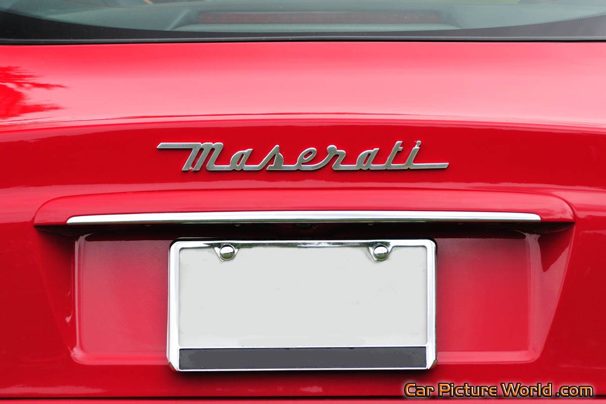 Name Plates For Cars >> 2005 Maserati Coupe Cambiocorsa Rear Name Plate Picture