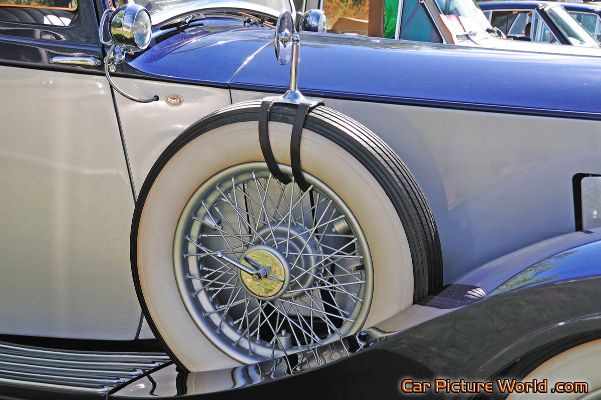 1937 Rolls Royce 25/30 Spare Tire Picture